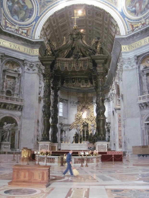 The High Altar of St. Peter's Basilica (taken by me April 26, 2013)